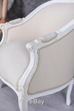 Fauteuil Shabby Chic Rococo Chaise Louis XV Exclusiv Bergere en Confessional