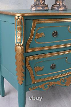 VINTAGE COMMODE BAROQUE AVEC SCULPTURES COUNTRY STYLE PLACARD deux TIROIRS neuf